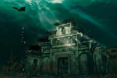 Kota dibawah laut - Shicheng, Cina