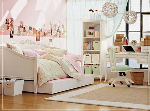 Teen girls bedroom with cute furniture - Cute bedroom ...