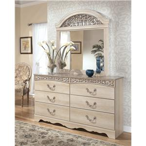 Knoxville Wholesale Furniture Signature Design By Ashley Catalina Six Drawer Dresser And Mirror