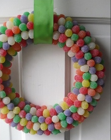 Party wreath sweets