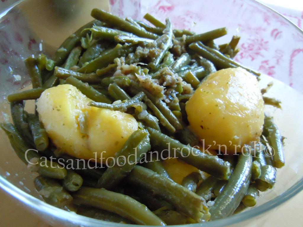 cucinare con l'acticook: fagiolini e patate all'aceto e dragoncello