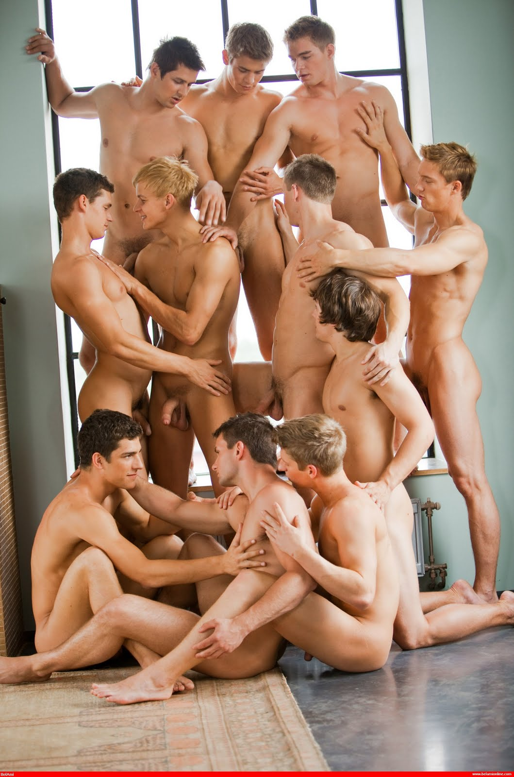 naked men in groups