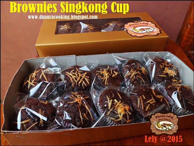 Brownies Singkong Cup