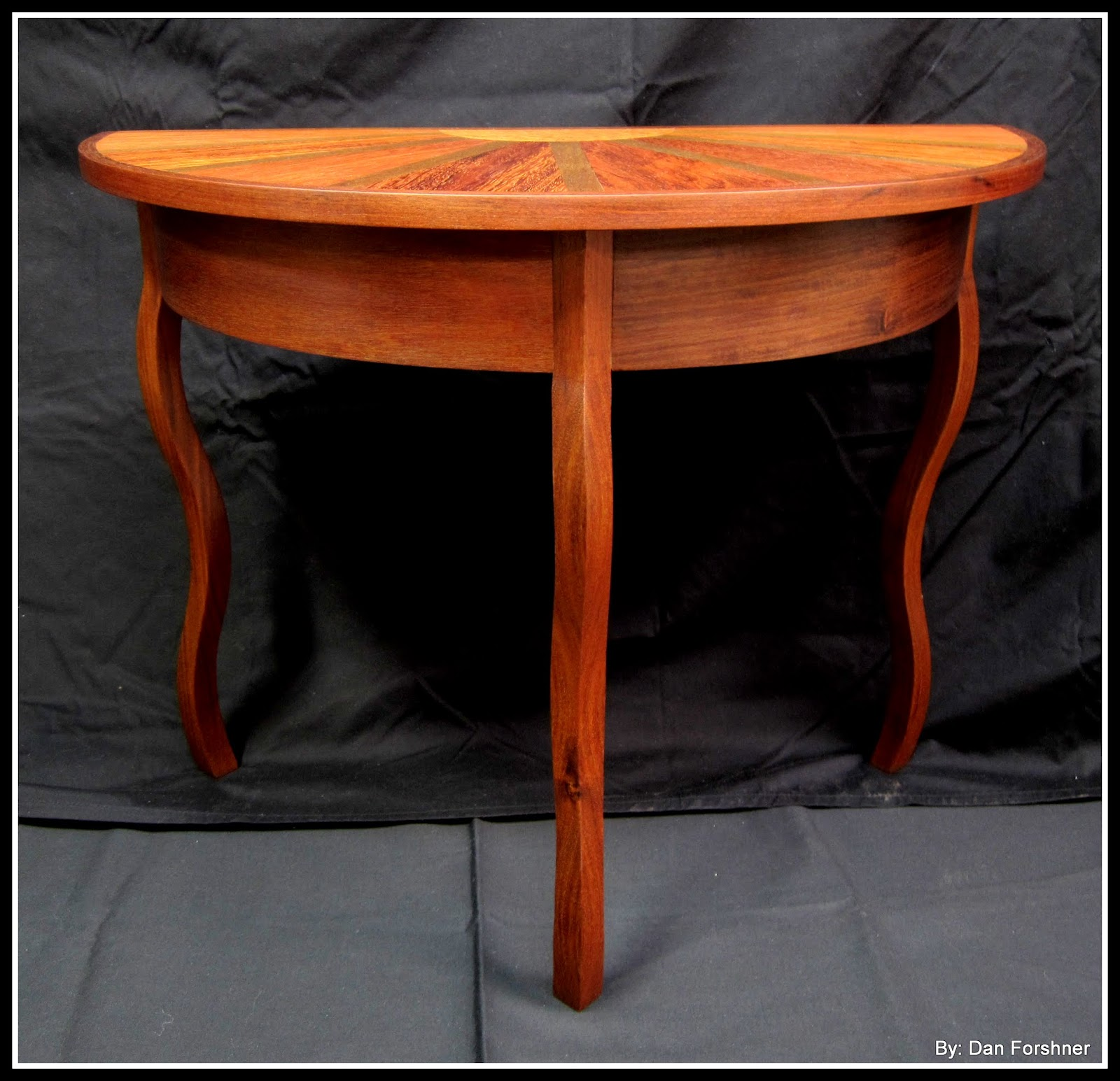 Lane Switchblade Coffee Table: A Holiday At Sea: Half Round Coffee Table