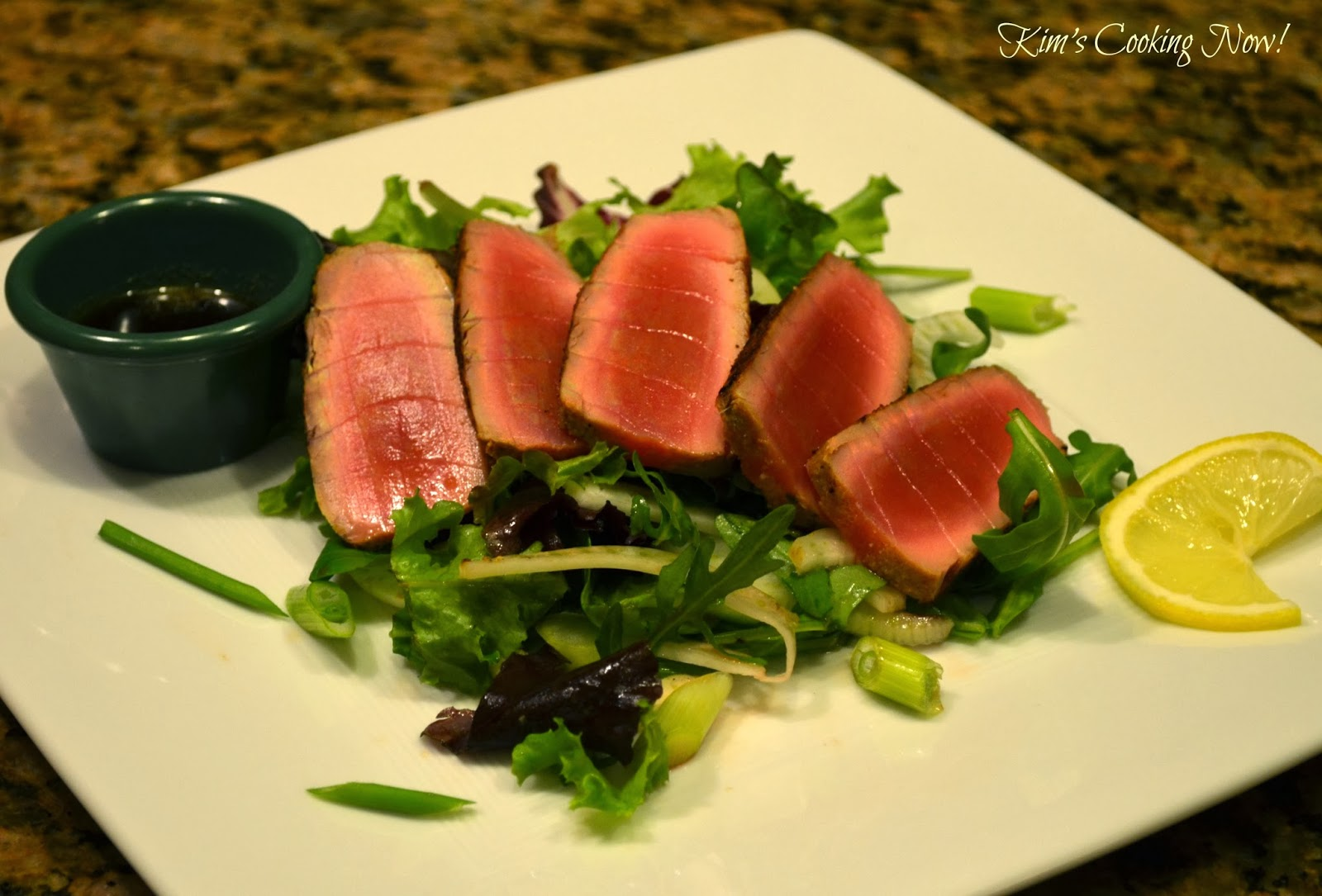 Seared Ahi Tuna Salad With Mizkan Ponzu Recipes — Dishmaps