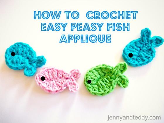 Crochetpedia: 2D Crochet Fish Applique