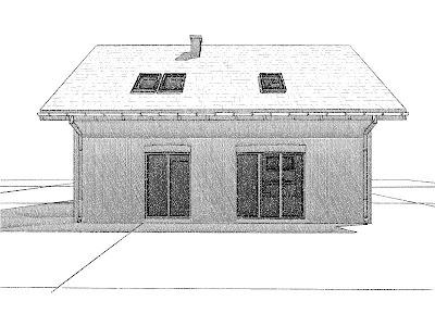 Architekt Rzeszow. Drzwi balkonowe. Dom jednorodzinny z poddaszem użytkowym.