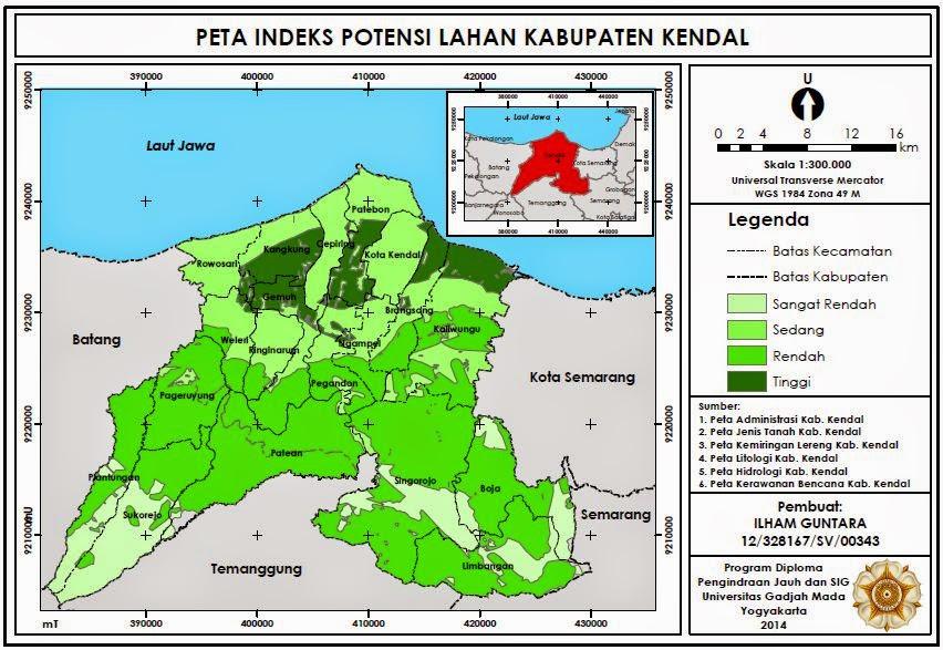 Contoh Peta Indeks Potensi Lahan Kabupaten Kendal www.guntara.com