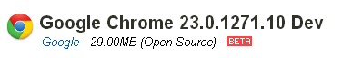 Download Google Chrome 23.0.1271.10 Full Setup