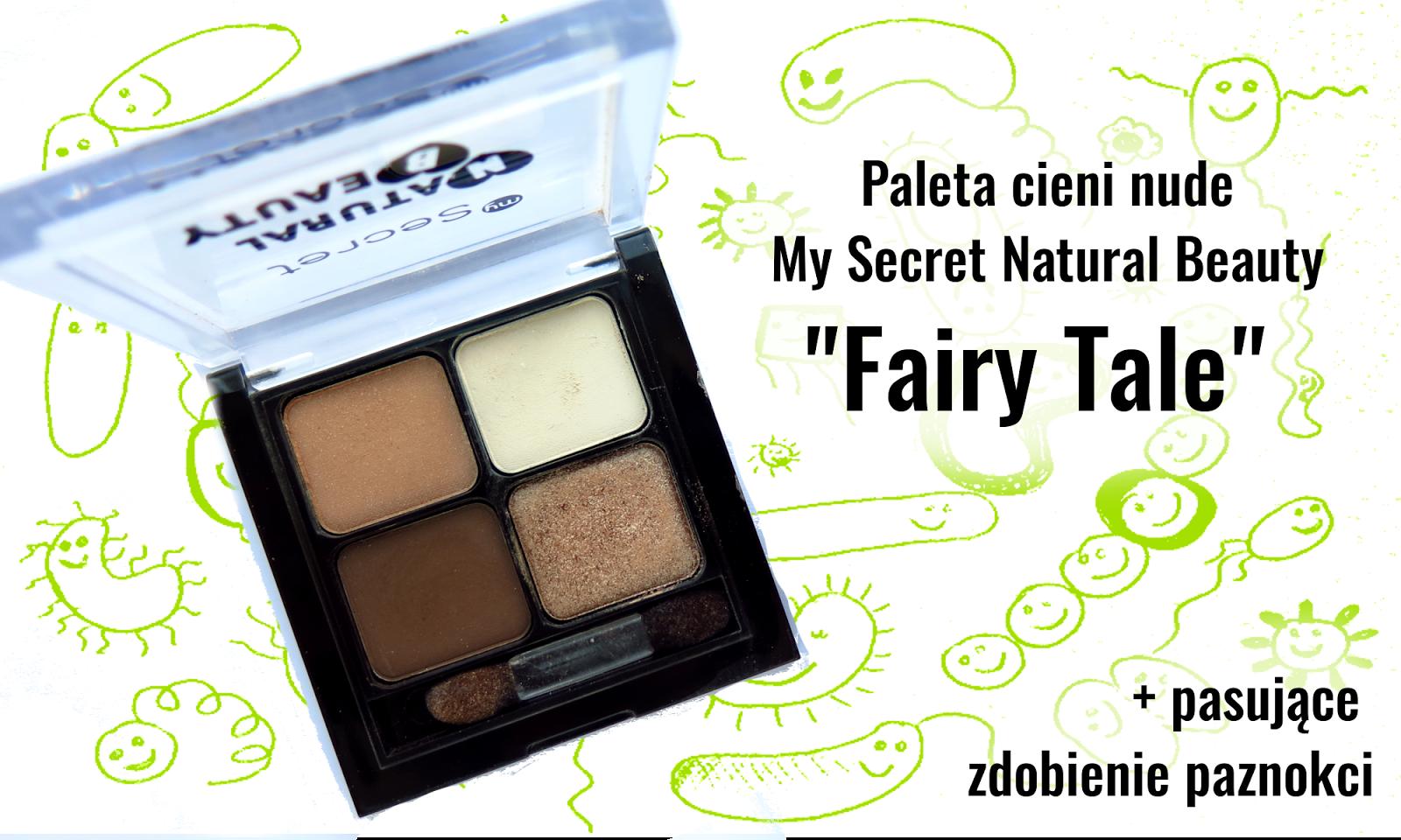 """Recenzja My secret """"Fairy Tale"""" - fantastyczna paleta cieni w kolorach nude!"""