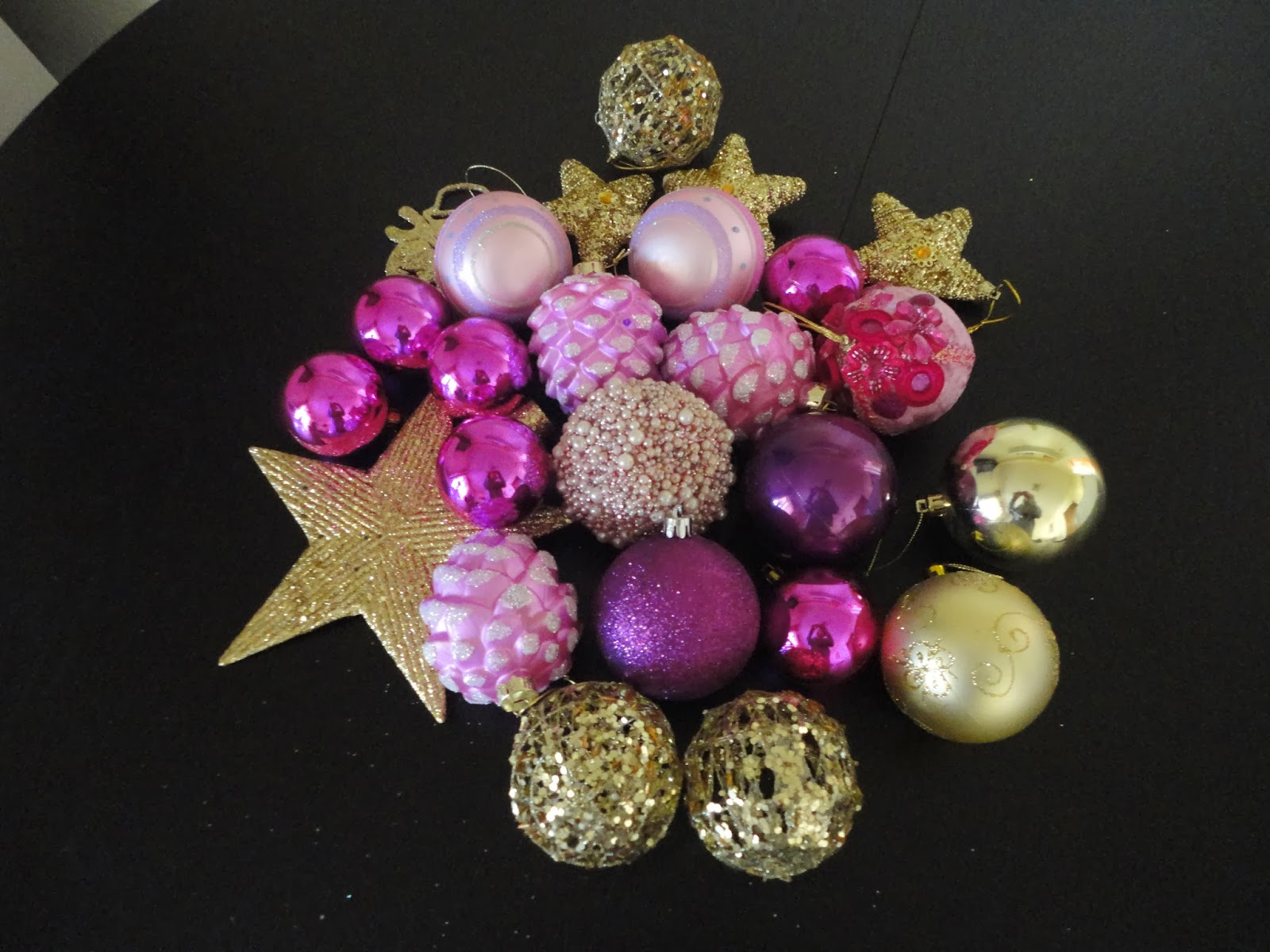 Pink And Gold Christmas Decorations - So this year my white tree is more girly with pink purple gold and white christmas ornaments multicolored cupcakes candies sweets donuts not real and pink