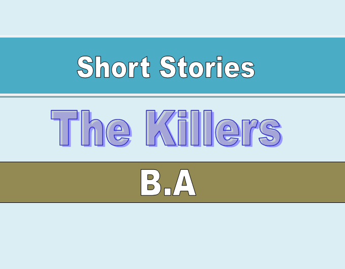 "an examination of the story of the killers by ernest hemingway The opening lines of ""the killers"" are the most influential that hemingway ever   as extended in the story, the terse repetitive bullying dialogue of the hit."