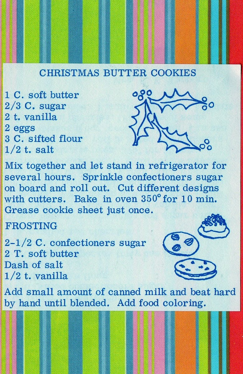 Christmas Butter Cookies (quick recipe)