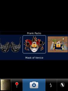 PrankCam v1.3.19 Application on BlackBerry