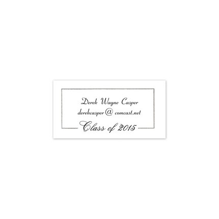 Noted finestationery graduation announcement guide when assembling a formal announcement insert the fold of your announcement card into the smaller of the two envelopes with the text facing out towards the filmwisefo