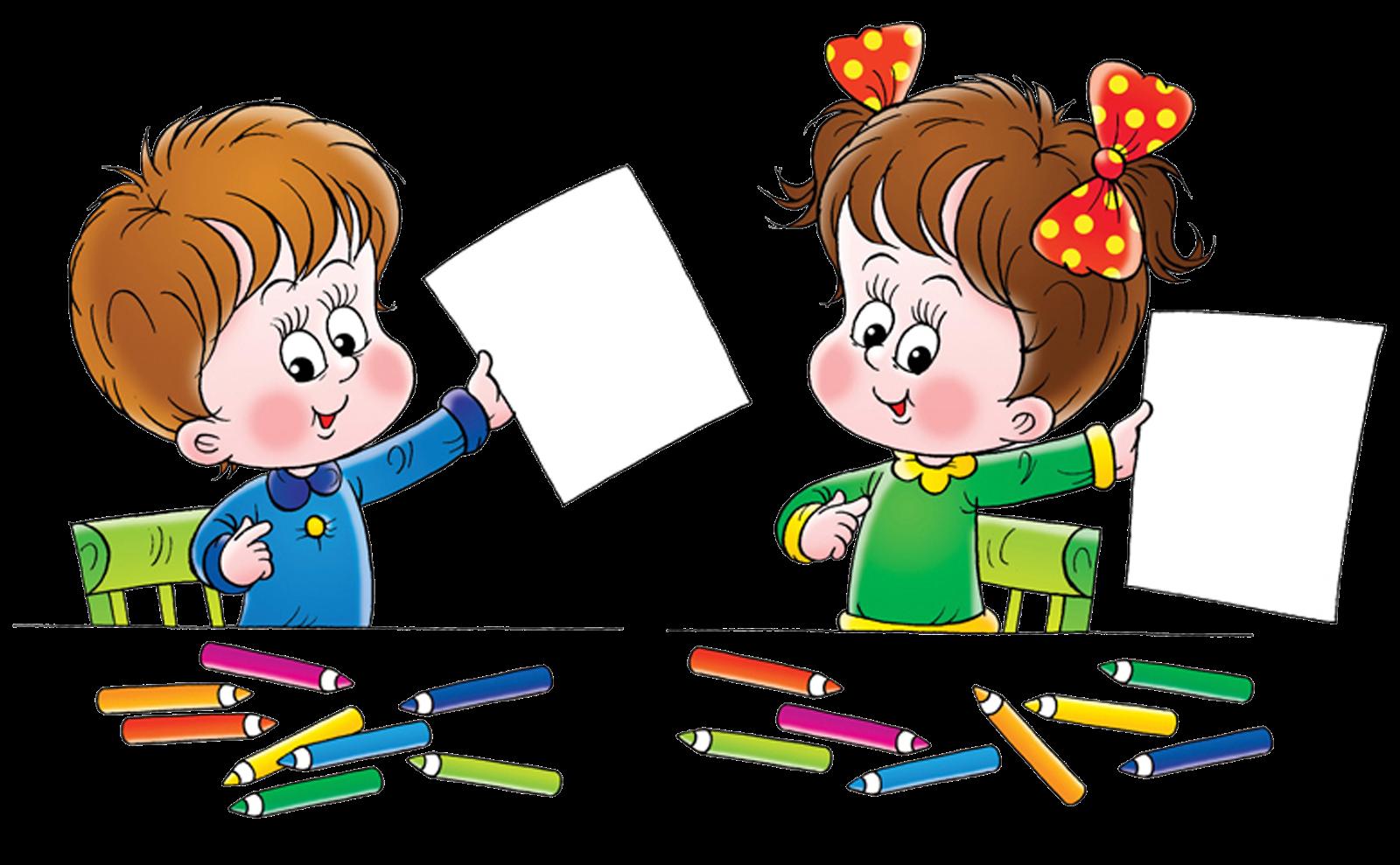Рисунок ребенок учится в школе