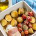 Kurczak w szynce serrano z młodymi ziemniakami