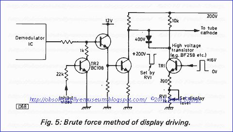 ITT BF258 High Voltage Video Amplificateur Qty = 2