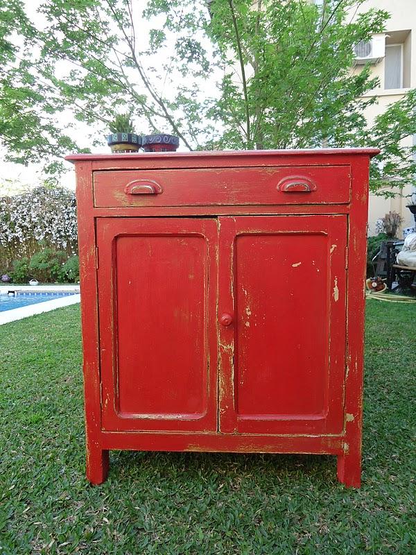 Vintouch muebles reciclados pintados a mano aparador - Muebles antiguos pintados ...