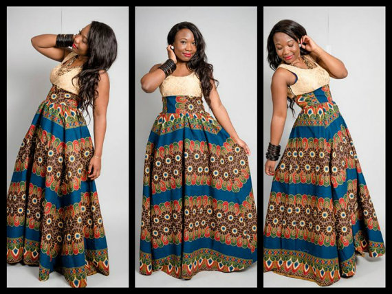 Simple And Unique Ankara Style Long Gown - Debonke House Of Fashion