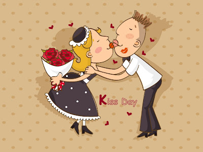 Funny Valentines day Kiss wallpaper