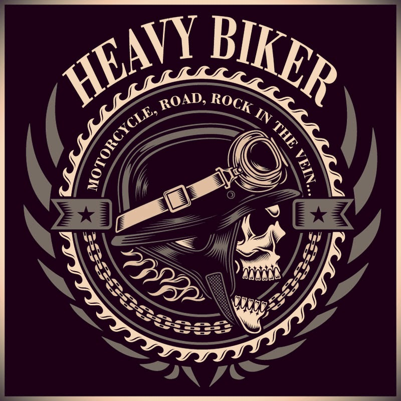 Brasão Heavy Biker.