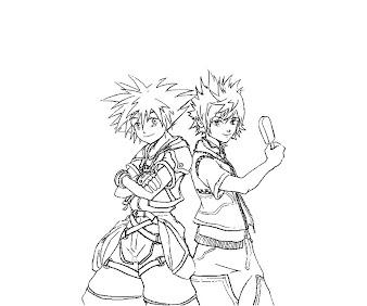 #9 Sora Coloring Page
