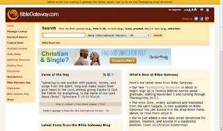 The Bible Gateway website