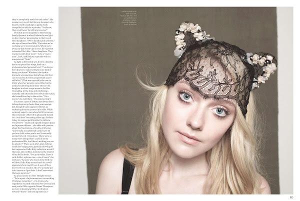 Dakota Fanning wearing a cat like hat