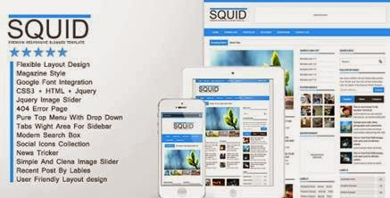 Squid ThemeForest Clean Responsive Blogger-bwtemplate blogs