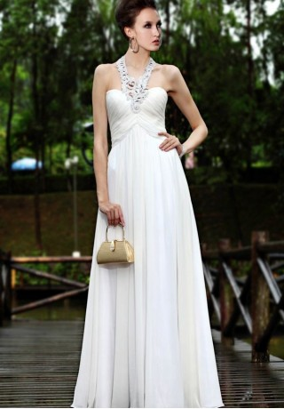 Evening Dresses Halter Neck characterized by