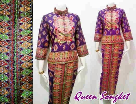 Model Baju Batik Wanita Seri Queen Motif Kain Songket