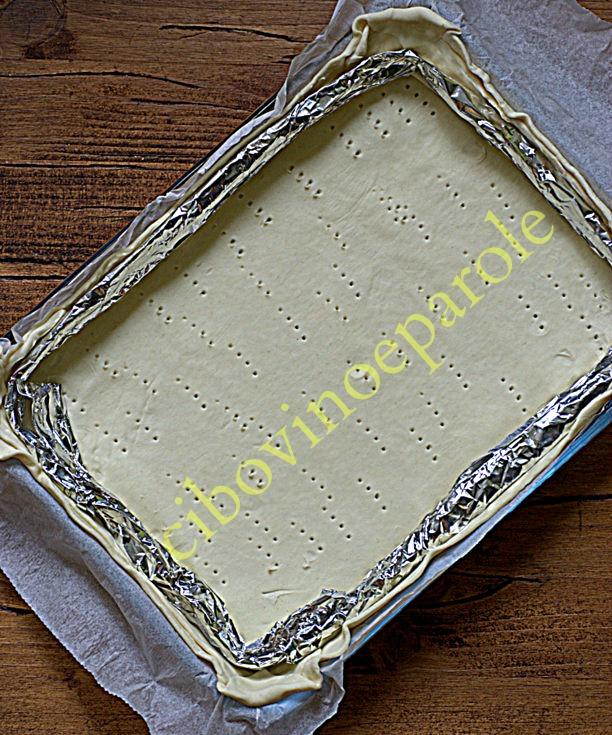 pasta sfoglia  - come stenderla nella teglia