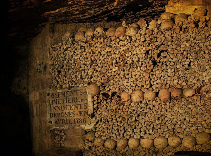Catacombs (France) - haunted place ranked 6th