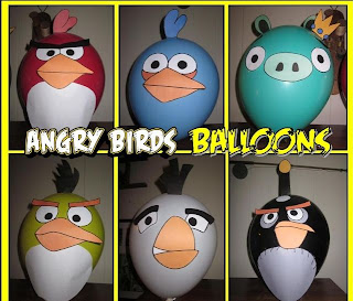 Angry Bird Balloon Making