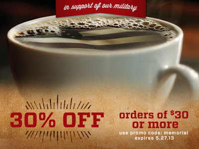 30% Off Community Coffee for Memorial Day