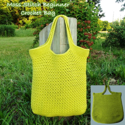 Moss Stitch Beginner Crochet Bag from Crochet N Crafts