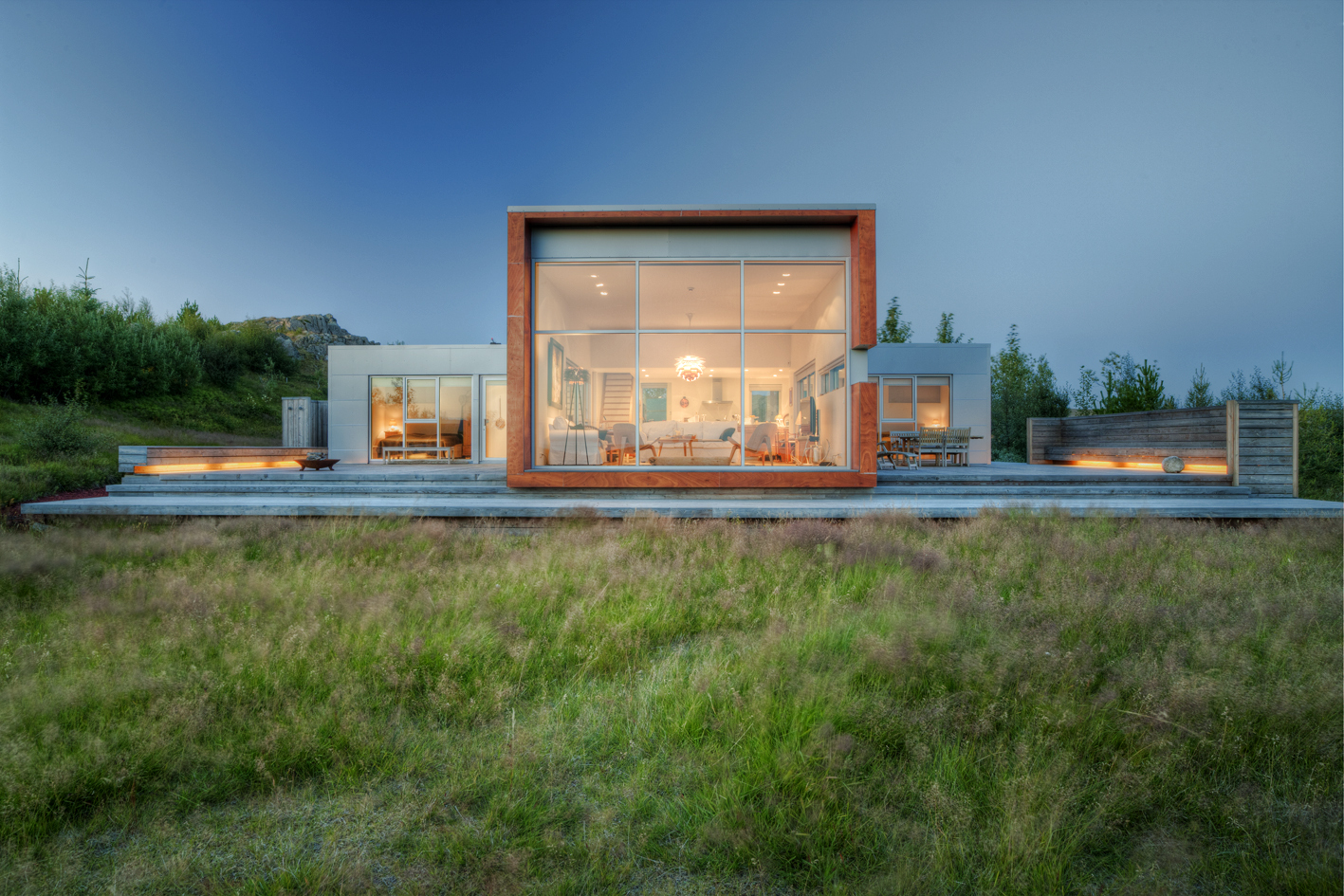 World of architecture modern home in the nature iceland for Pictures of modern homes