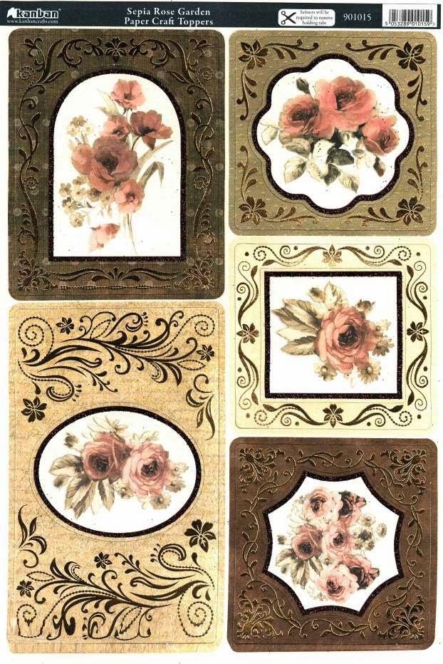 Kanban Vintage Tapestry die cut toppers - 99p each