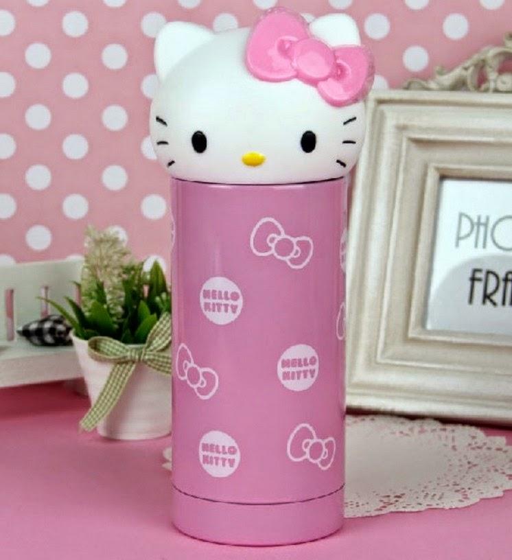 Gambar botol minum hello kitty warna pink