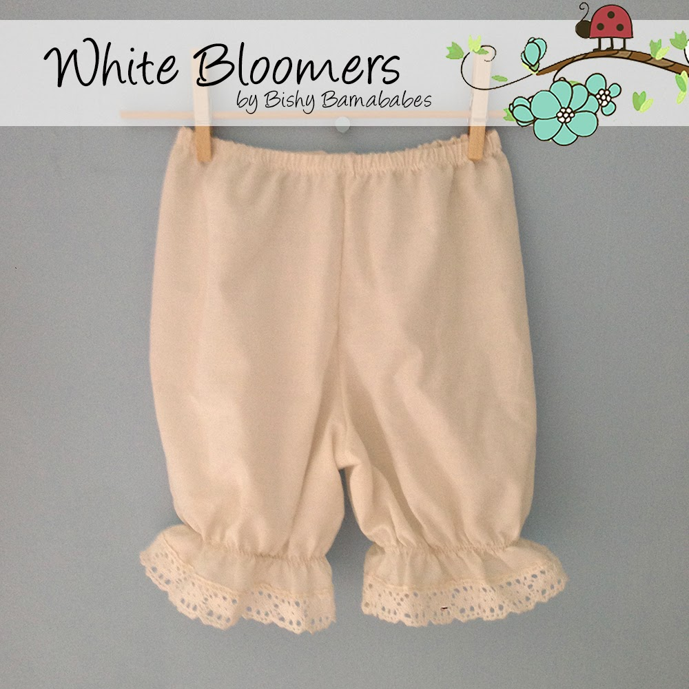 White Bloomers custom made by Bishy Barnababes - Vicki Hibbins