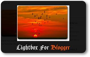 Changer le design du mode Lightbox des images sur Blogger
