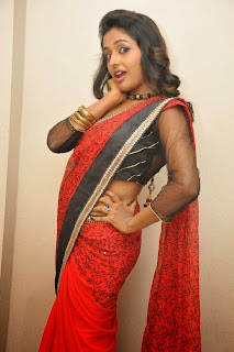Actress Amitha Rao Pictures in Saree at Chandamama Kathalu Movie Press Meet 0060