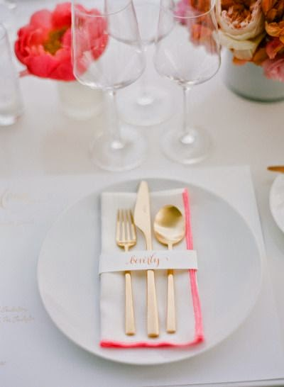 Thanksgiving in pink placesetting