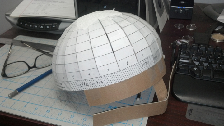 how to make a round dome out of cardboard