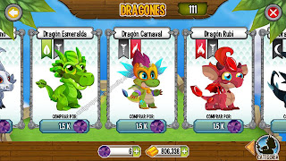 imagen del dragon esmeralda_dragon carnaval y dragon rubi en dragon city ios