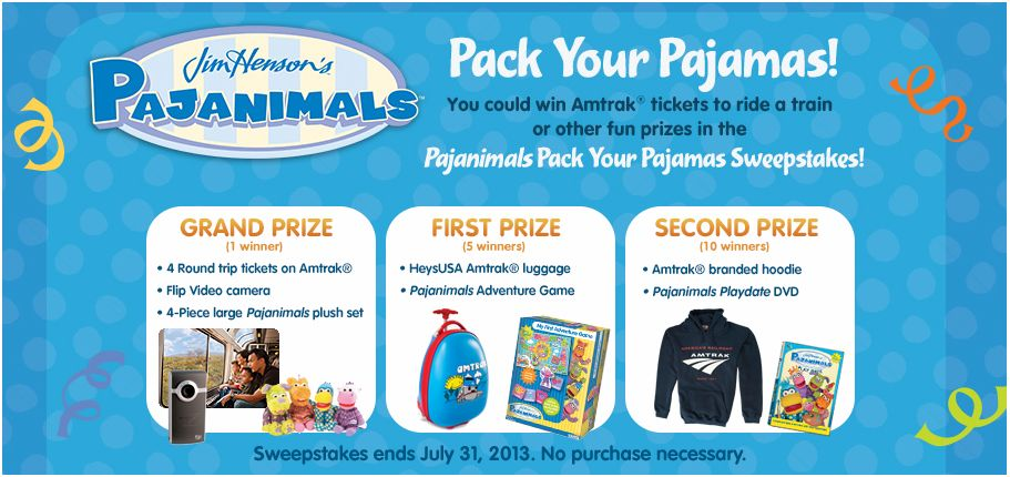 bd5fda2a6a Life is a Sandcastle  Sweepstakes Pajanimals Pajama Party! DVD + Prizes