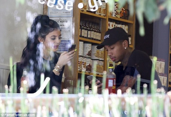 Kylie Jenner Gets A Passionate Hug From Boyfriend, Tyga