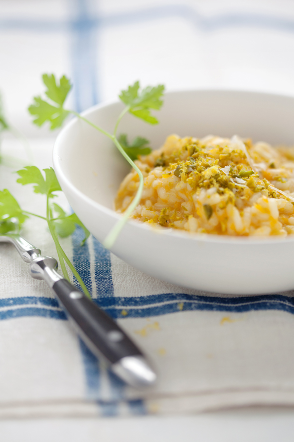 ... : Melissa Clark's butternut squash risotto with pistachios and lemon