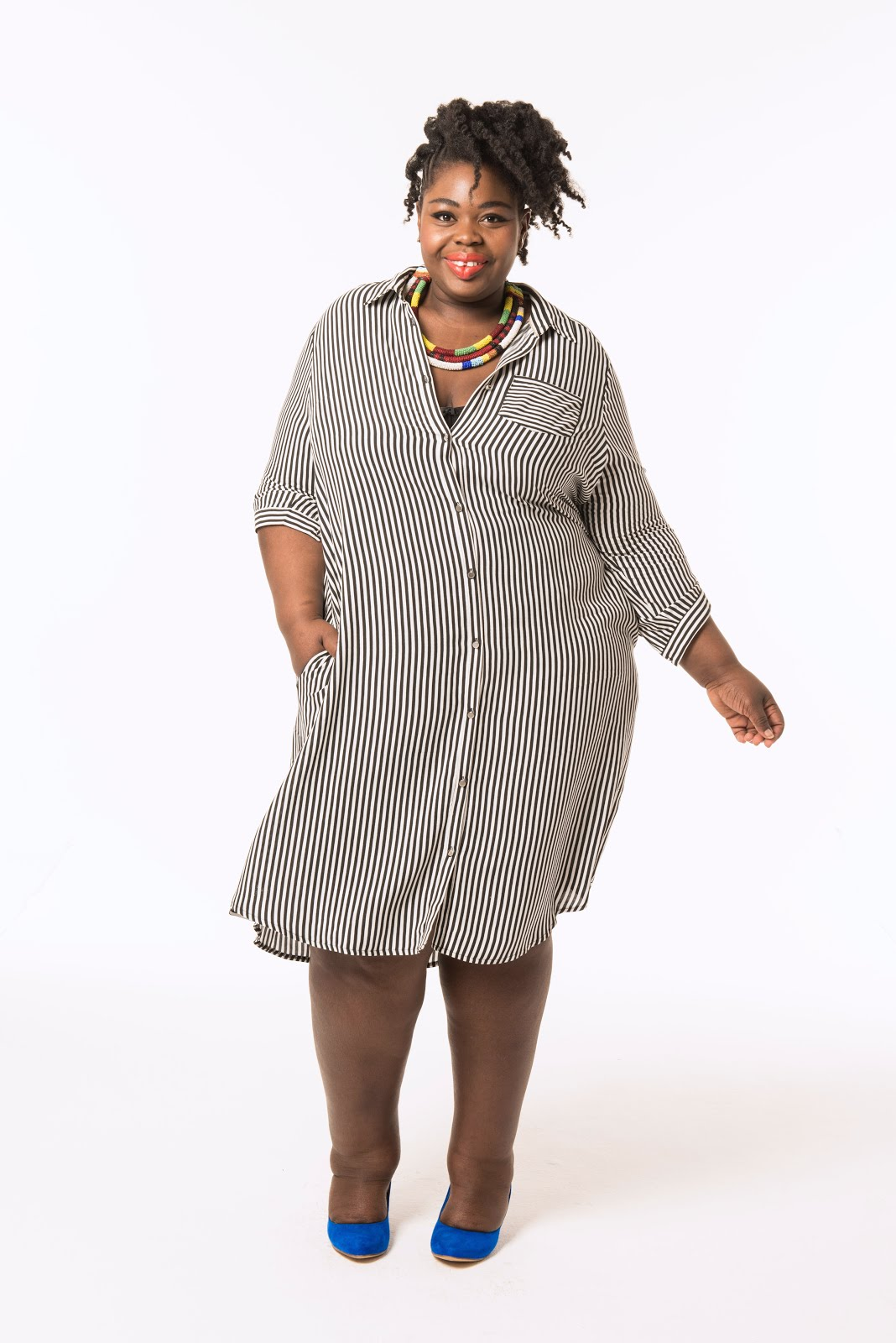 Découvres la robe-chemisier #GaellePrudencioXBalsamik